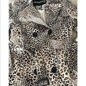 LEOPARD / CHEETAH TRENCH, vintage